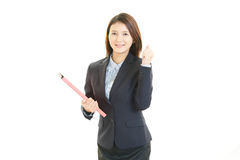 Portrait of a young business woman Royalty Free Stock Image