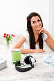 Portrait of a young business woman in her home office Stock Photo