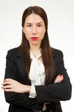 A portrait of a young business woman Stock Images