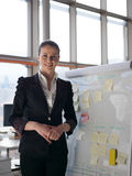 Portrait of young business woman at modern office Royalty Free Stock Photos