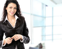 Portrait of a young business woman in an office Stock Photo