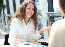 A portrait of a young business woman Royalty Free Stock Photo