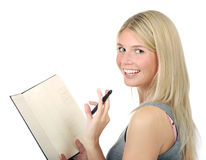 Portrait of young business woman smiling Stock Image