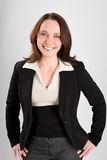 Portrait of a young business woman smiling Royalty Free Stock Photo