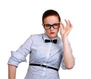 Portrait of young business woman or teacher Royalty Free Stock Photos