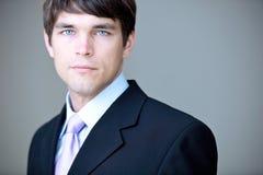 Portrait of a young businessman. Portrait of a young handsome confident businessman Stock Images