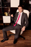 Portrait of the young businessman Stock Photography