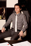 Portrait of the young businessman Stock Images