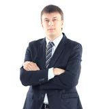 Portrait of a young businessman. Isolated on white background Royalty Free Stock Image