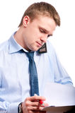 Portrait of young businessman Royalty Free Stock Photos