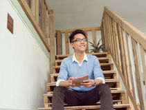Portrait of young businessman in casual Royalty Free Stock Images