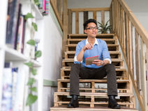 Portrait of young businessman in casual Royalty Free Stock Photo