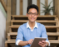 Portrait of young businessman in casual Stock Photography
