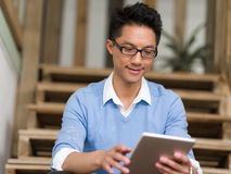 Portrait of young businessman in casual Stock Image
