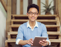 Portrait of young businessman in casual Royalty Free Stock Image