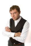 Portrait of  young businessman isolated Stock Image