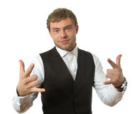 Portrait of  young businessman isolated Stock Photography