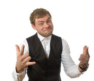 Portrait of  young businessman isolated Royalty Free Stock Photos