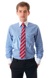 Portrait of young businessman isolated on white Stock Photography