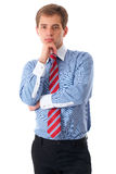 Portrait of young businessman isolated on white Stock Photo