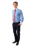Portrait of young businessman isolated on white Royalty Free Stock Photo