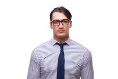 The portrait of young businessman isolated on white Royalty Free Stock Image