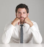 Portrait of a young businessman looking at camera. Stock Photos