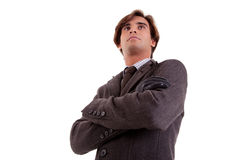 Portrait of a young businessman, looking serious Royalty Free Stock Photo