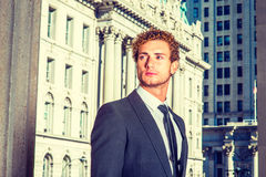 Portrait of Young Businessman in New York Royalty Free Stock Photography