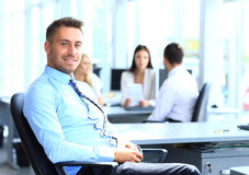 Portrait of young businessman in office Royalty Free Stock Photography