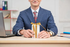 Portrait of young businessman in office Royalty Free Stock Photo