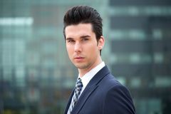 Portrait of a young businessman outdoors Royalty Free Stock Image