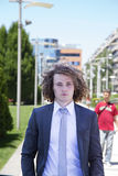 Portrait of young businessman. Outside Stock Image