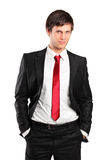 Portrait of a young businessman posing Stock Image