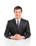 Portrait of young businessman sitting Stock Photography