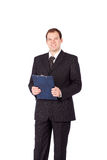 Portrait of a young businessman smiling Royalty Free Stock Photos