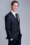 Portrait of a young businessman smiling Royalty Free Stock Images