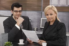 Portrait of young businesspeople Stock Photo