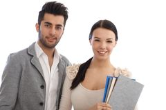 Portrait of young businesspeople smiling Stock Images