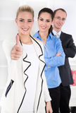 Portrait of young businesspeople - working in a team. Stock Images