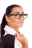 Portrait of young businesss woman Stock Images