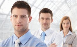 Portrait of young businessteam smiling Stock Images