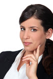 Portrait of young businesswoman. Portrait of young dishy businesswoman Stock Image