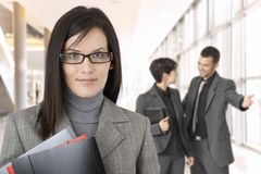 Portrait of young businesswoman in glasses Stock Images