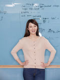 Portrait of Young Businesswoman, hands on hips Royalty Free Stock Images