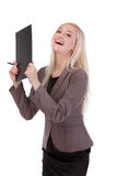 Portrait of a young businesswoman happy of her success. Stock Images
