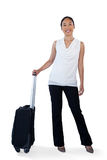 Portrait of young businesswoman with luggage Stock Images
