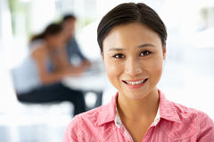 Portrait of young businesswoman in office Royalty Free Stock Photography
