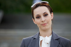 Portrait of a young businesswoman smiling Royalty Free Stock Image
