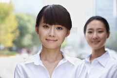 Portrait of young Businesswoman smiling in Beijing Stock Photos